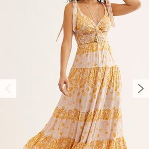 NWT Free People Let's Smock About It Maxi Dress
